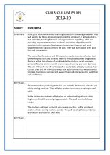 thumbnail of Enterprise 1 curriculum plan 2019-2020