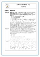thumbnail of Maths curriculum plan 2019-2020