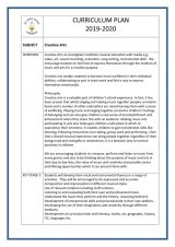 thumbnail of Creative Arts curriculum plan 2019-2020