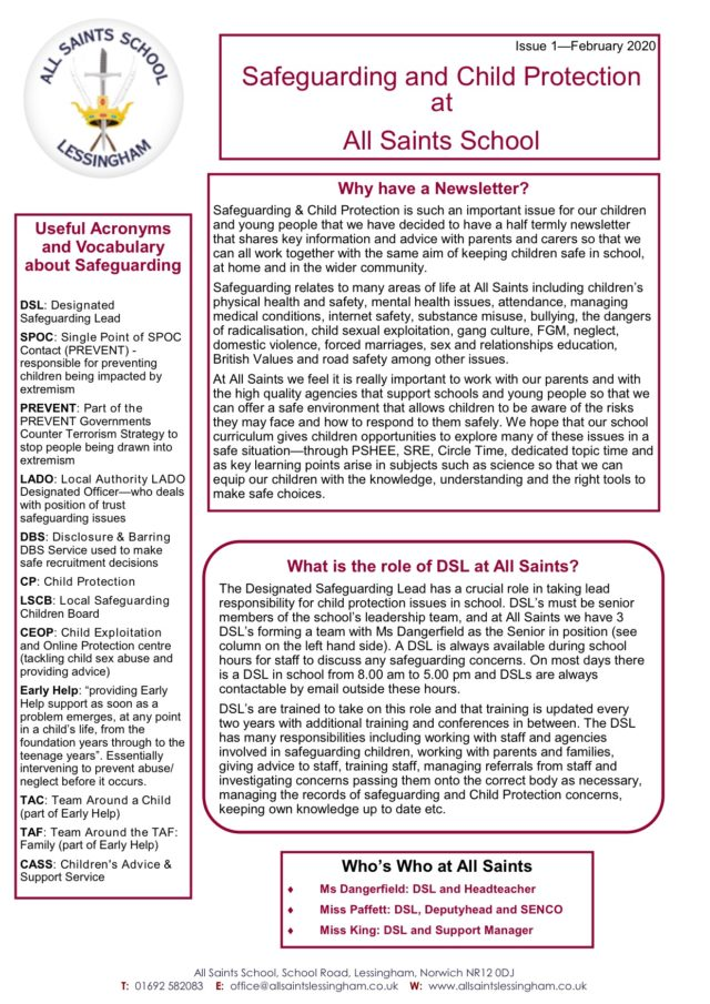 Safeguarding Newsletter